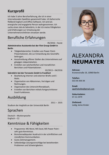 resume german cv