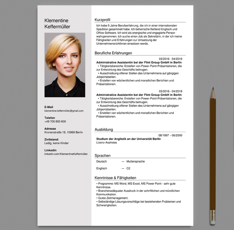 german cv and cover letter creator online pdf