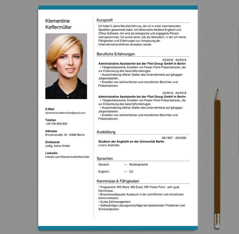 German CV Templates free